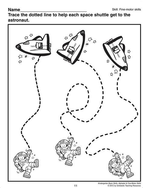 astronaut trace worksheet space astronauts