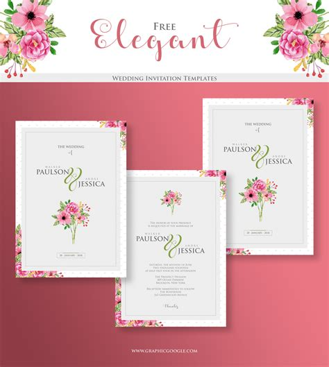 elegant wedding  invitation templates engine templates