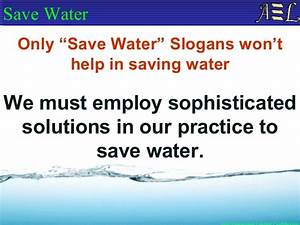 eWAS Presentation - Save Water