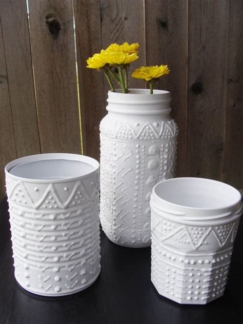basteln mit konservendosen instant collection upcycled containers white faux