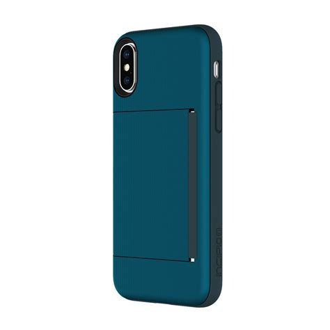  iphone case with silver leaves & matt 19:26 text. - Incipio Stowaway Credit Card Hard Shell Case with Silicone Core for iPhone Xs/X - Navy #IPH ...