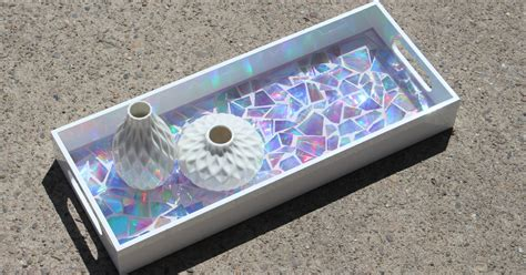 dvd mosaic high gloss resin tray resin crafts