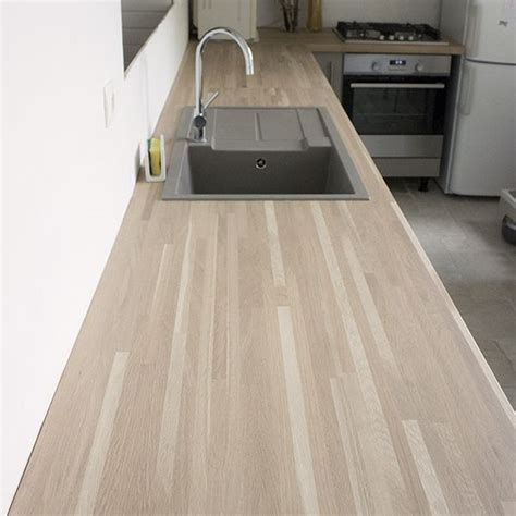 cuisine ch麩e blanchi plan de travail chene blanchi plan de travail cuisine n 212 d cor ch ne blanchi