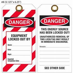 Custom Printed Lockout  Tagout  U0026 Osha Hang Tags