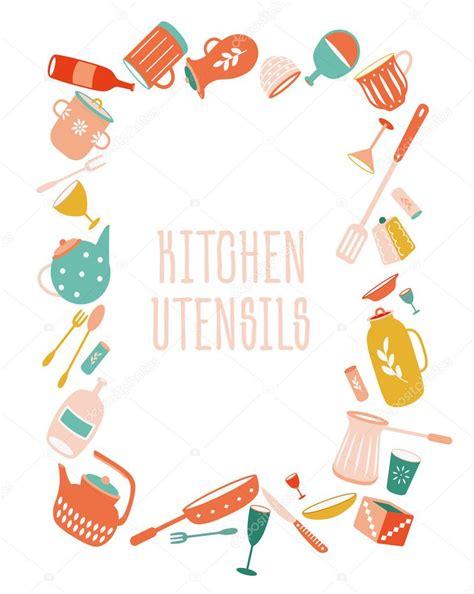 modern white kitchen backsplash kitchen utensils border cooking cliparts free