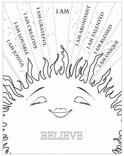 Affirmations Positive Self Am Mindfulness Creative Yoga