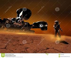 Exploring far planets stock illustration. Image of mars ...