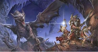 Dragons Dungeons Wallpapers Wizards Fantasy Dragon Ejsing