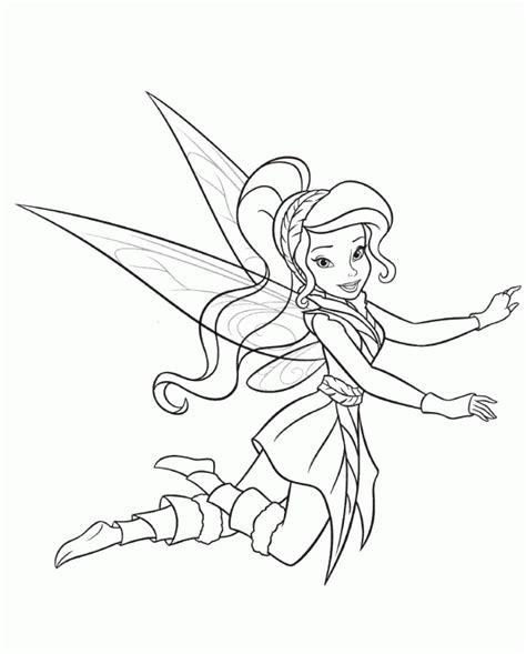Coloring Pages Disney Fairies 7 Lrg (Cartoons Disney