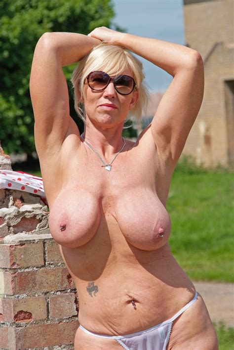 British Milf Takes Off Her Sexy Polka Dot Dress