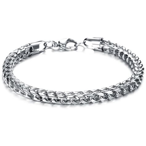 heavy stainless steel square curb wheat chain link