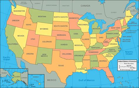 united states map  satellite image