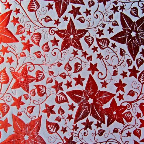 kanban foiled background paper poinsettia