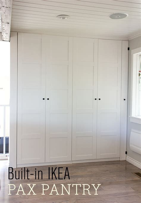 Ikea Pantry Closet by Kitchen Chronicles Ikea Pax Pantry Reveal Sue