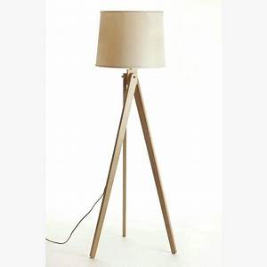 nordic ikea creative modern japanese thai rubber wood wood With harbin wood floor lamp