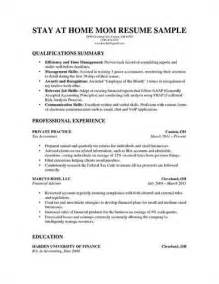 How To Write Resume For Stay Home Mom