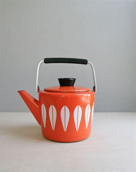 Kitchen Living Tea Kettle by Cathrine Holm Tea Kettle Mid Century Orange Lotus