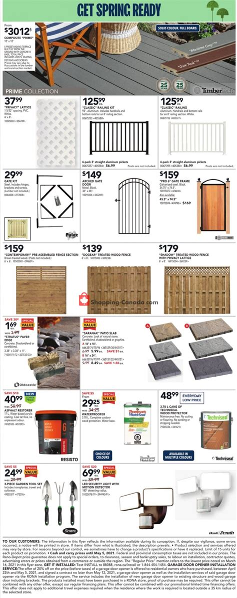 Rona Canada, flyer - (Everything You Need - ON): April 29 ...