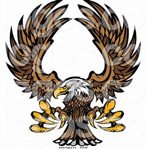 Royalty Free Vector of a Flying Bald Eagle by Chromaco - #5339