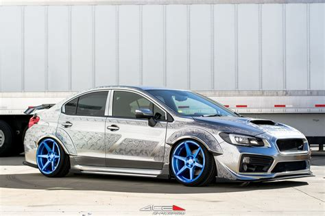 Pure Art  Silver Subaru Wrx With Custom Engraving From