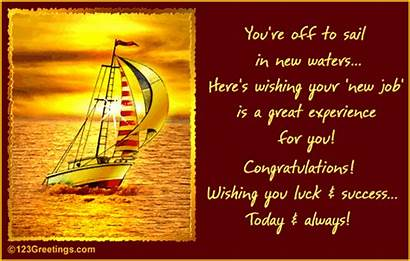 Job Congratulations Luck Congrats Welcome Card Ecard