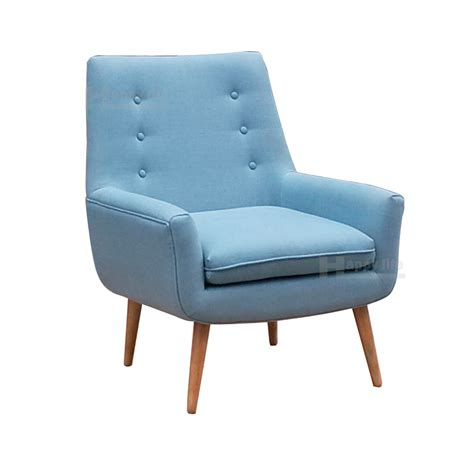 european style leather single sofa chair with solid wood