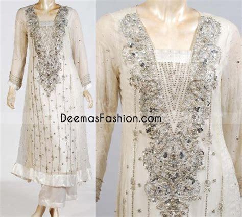 buy pakistani elegant white dress latest designer