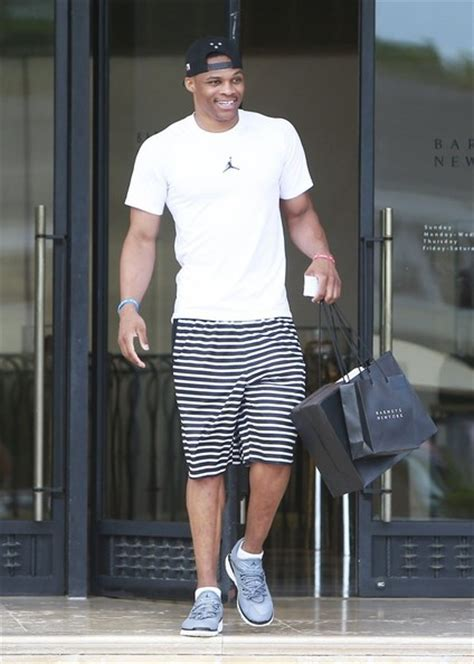 Off Season Therapy Nba Player Russell Westbrook Shopping