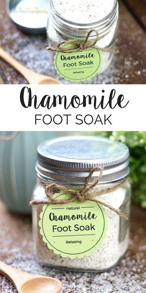 easy chamomile foot soak diy printable tags recipe