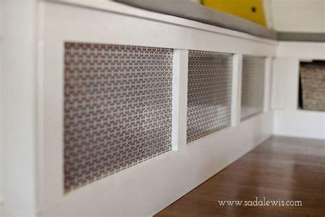 diy kitchen banquette   cover  air vent
