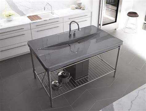 prep sink in island kohler k 6417 2 g9 iron occasions island integrated top