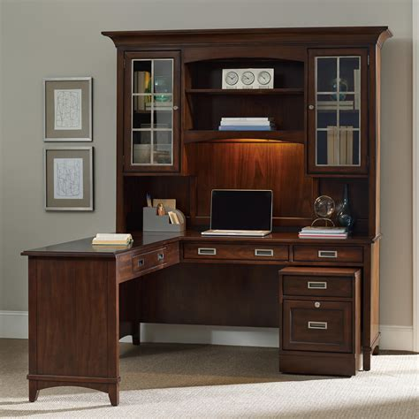 l shaped desk with filing cabinet walnut l shaped desk and hutch set with rolling filing