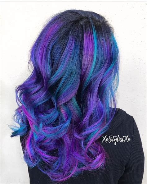 Purple Violet Red Cherry Pink Bright Hair Colour Color