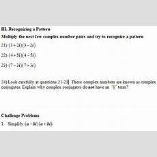 Multiply Complex Numbers Worksheet (pdf) And Answer Key 28 Scaffolded Questions On Simplifying