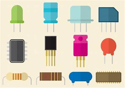 Transistor Flat Vectors Vector Electronic Clipart Components