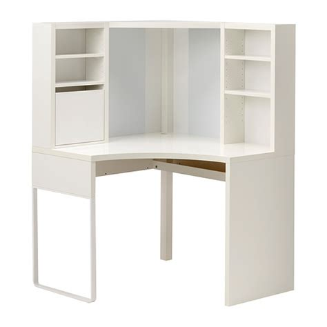 bureau metal ikea micke corner workstation white ikea