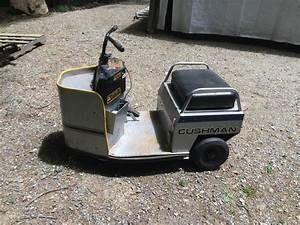 Rare Cushman Vtg 3 Wheel Electric School Mall Security