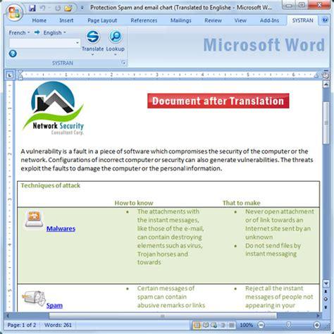 translate word documents   formatting