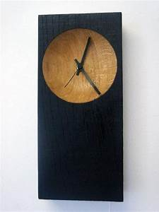Black Hole Handmade Contemporary Wooden Clock by ...