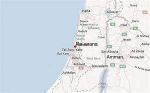 Map Of Raanana Israel