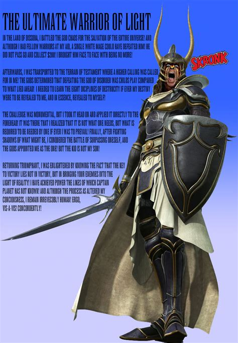 warrior of the light the ultimate warrior of light by thefavs on deviantart