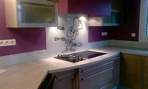 Crédence Cuisine Verre : credence cuisine verre avec motif table de cuisine ~ Premium-room.com Idées de Décoration