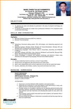 Simple Resume Sle by Sle Resume For Fresh Graduate Without Work Experience