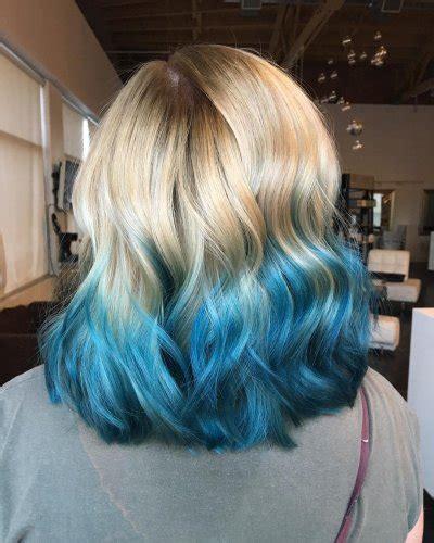 blue ombre hair color light  dark shades