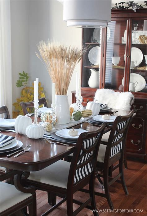 fall formal dining table centerpiece home decor pinterest fall home tour part two setting for four