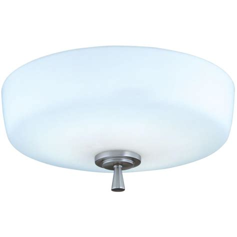 lithonia lighting ferros 1 light brushed nickel flush semi