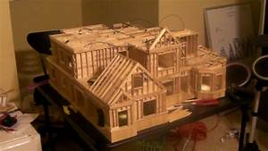 20 - Building Popsicle Stick House - YouTube