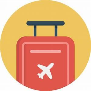 Flight, journey, luggage, suitcase, travel, trip icon ...