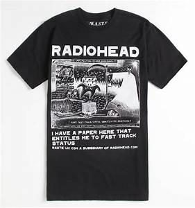 Pacsun Size Chart Mens Fantastic Radiohead Shirt Cream T Shirts Geek Tees