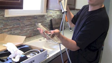 how to install a moen kitchen faucet how to install a kitchen faucet by